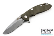 "Hinderer 3"" XM-18 Recurve - OD Green G-10 - Bronze Anodized"