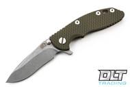"Hinderer 3"" XM-18 Recurve - OD Green G-10 - Bronze Anodized"