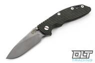"""Hinderer 3.5"""" XM-18 Non Flipper Slicer - Full Working Finish - Green & Black G-10"""