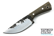 Lon Humphrey Brute de Forge Hunter - Drop Point - Green Canvas Micarta - #36