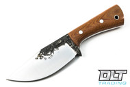 Lon Humphrey Brute de Forge Hunter - Clip Point - Natural Canvas Micarta - #32