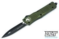 Microtech 142-1OD Combat Troodon D/E - OD Green Handle - Black Blade