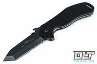 Emerson Big Bulldog - Black Blade - Partial Serrations - Wave Feature