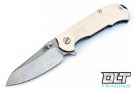 Hinderer MP-1 Ivory G-10 - Blue Anodized