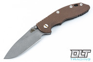 "Hinderer 3.5"" XM-18 Non Flipper Slicer - Full Working Finish - FDE G-10"