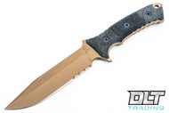 "Chris Reeve 6"" Pacific - Flat Dark Earth PVD - Partially Serrated"
