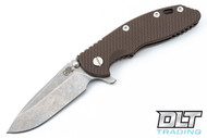 "Hinderer 3.5"" XM-18 Spear Point - Bronze Anodized - FDE G-10"