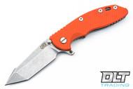 """Hinderer 3.5"""" XM-18 Fatty Harpoon Tanto - Orange G-10"""