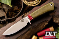 Ultra Lite Hunter 1 Green Canvas Micarta - Bloody Basin Spacer