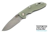 """Hinderer 3.5"""" XM-18 Non Flipper Slicer - Full Working Finish - Translucent Green G-10"""
