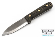LT Wright Genesis - Scandi - Black Micarta - Matte Finish