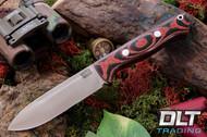 Bravo 1.25 LT Cru-Wear Red & Black Linen Micarta - Rampless - Spear Point