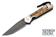 Chris Reeve Large Sebenza 21 - Basketweave Damascus - Spalted Beech Inlay - #2