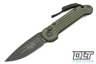 Microtech 135-1GR LUDT - Green Handle - Green Blade
