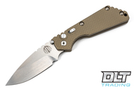 Pro-Tech Strider SnG - Desert Tan Handle - Stonewashed Blade