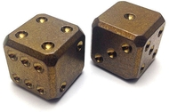 Flytanium Titanium Dice Set - Bronze Anodized