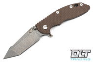 "Hinderer 3.5"" XM-18 Fatty Harpoon Tanto - FDE G-10 - Full Working Finish"