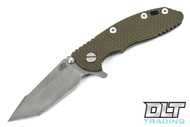 "Hinderer 3"" XM-18 Harpoon Tanto - OD Green G-10 - Full Working Finish"