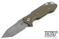 Hinderer Half Track Tanto - OD Green G-10 - Full Working Finish