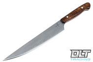 Zoe Crist Custom Damascus Chef's Slicer - Koa