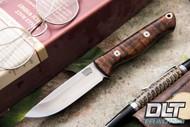 Bravo EDC M4 Dark Curly Maple - Red Liners - Mosaic Pins - Rampless