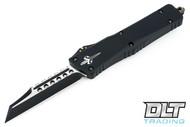 Marfione Custom Combat Warhound - Black Handle - Brass Ringed Hardware - Two-Tone DLC Apocalyptic Blade - #09