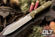 Kephart 4V - 5 Inch - Green Canvas Micarta - Red Liners