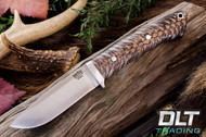 Classic Drop Point Hunter 4V - Black & White Pinecone