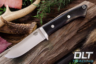 Classic Drop Point Hunter 4V - Black Canvas Micarta - Red Liners
