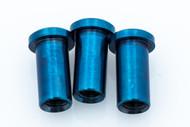 """Hinderer Blue Anodized 3"""" XM-18 Nut Set"""