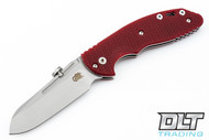 Hinderer XM-18 Slipjoint Sheepsfoot - Red G-10