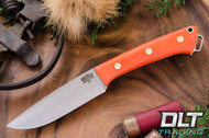 Fox River A2 Blaze Orange G-10 - Matte Finish - Brass Hardware