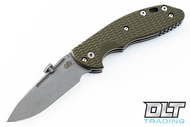 Hinderer XM-18 Slipjoint Slicer - Working Finish - OD Green G-10