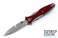 Hinderer Maximus - Bayonet Grind - Red G-10