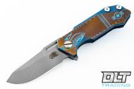 Hinderer Half Track - Warthog - Battle Blue & Bronze Satin - Blue Milling