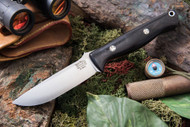 Bark River Gunny Elmax Black Canvas Micarta - Red Liners - Mosaic Pins