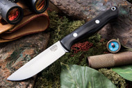 Bark River Gunny Elmax Black Canvas Micarta - Rampless