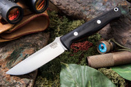Bark River Gunny Elmax Black Canvas Micarta - Red Liners