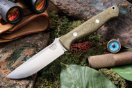 Bark River Gunny Elmax Green Canvas Micarta