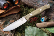 Bark River Gunny Elmax Green Canvas Micarta - Rampless