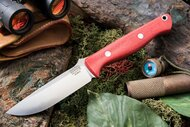 Bark River Gunny Elmax Red Linen Micarta
