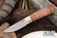 Brokk Stacked Leather - Desert Ironwood Pommel - #1
