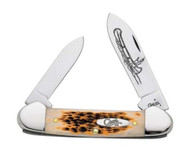 Case Canoe CV Amber Bone Pocket Knife