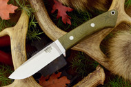 Classic Drop Point Hunter A2 Green Canvas Micarta