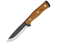 TOPS Brothers of Bushcraft Knife - Brown Canvas Micarta