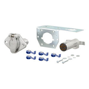 CURT 6-Way Round Connector Plug & Socket Kit #58093