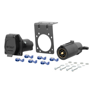 CURT 7-Way RV Blade Connector Plug & Socket Kit #58152