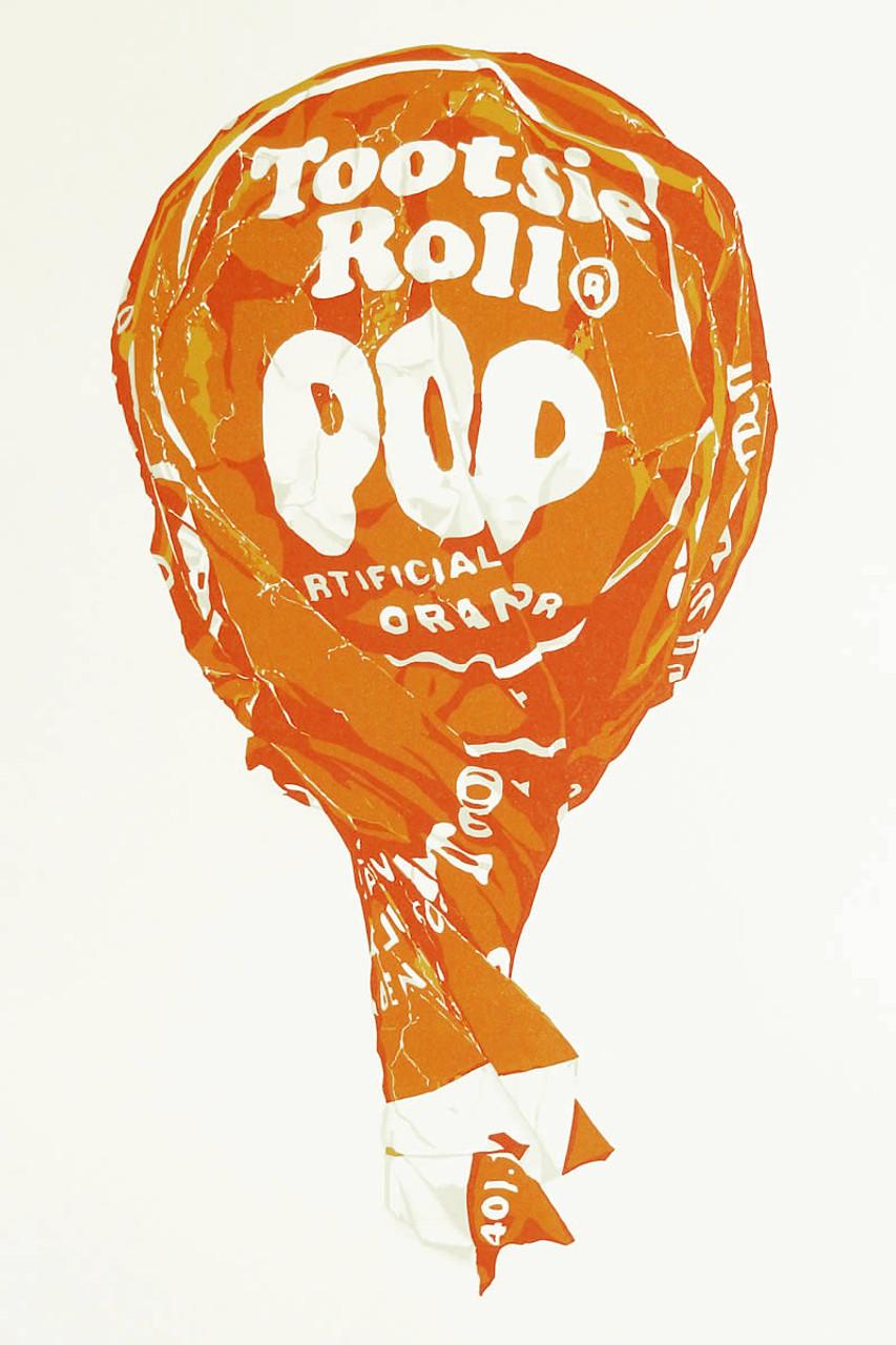 Tootsie on a Stick (Large Orange II)