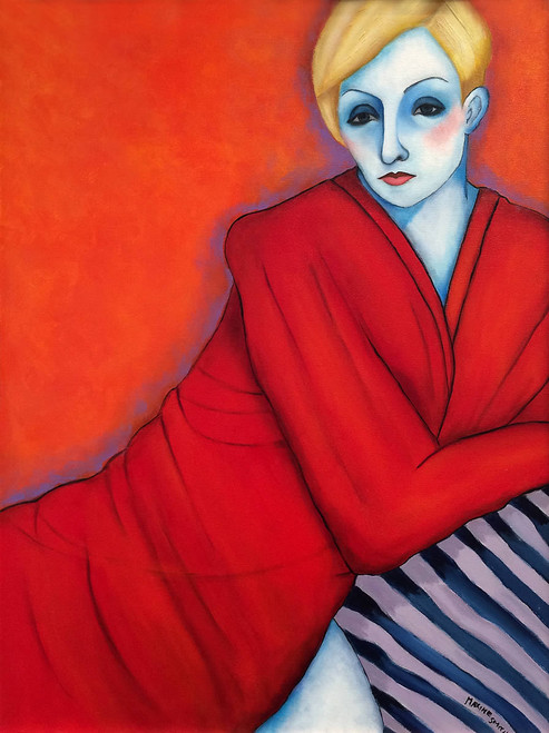 Woman in Red Robe
