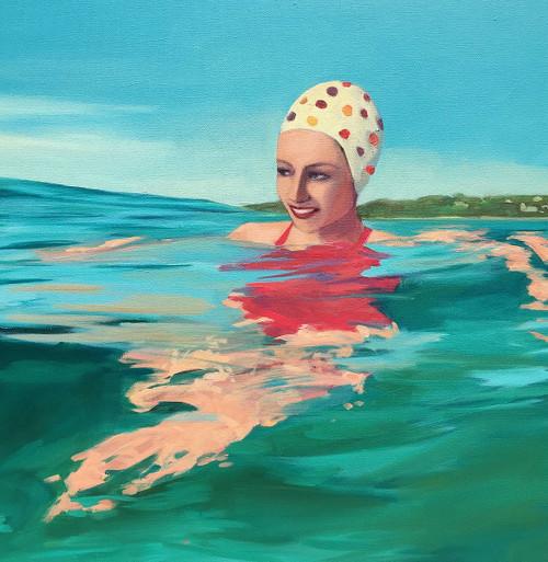 Polka Dot Swim Cap